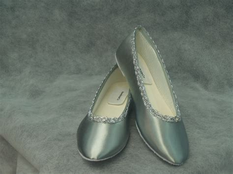 silver wedding flats shoes silver wedding flats satin ballet slippers shoes dyed