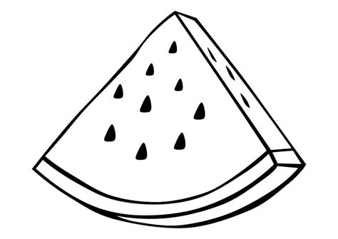 watermelon slice coloring page watermelon coloring pages 1