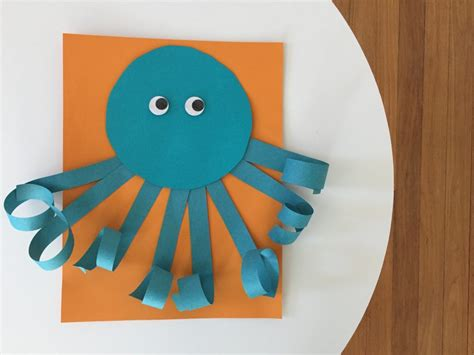 Summer Paper Crafts For - easy summer craft for curly paper octopus the