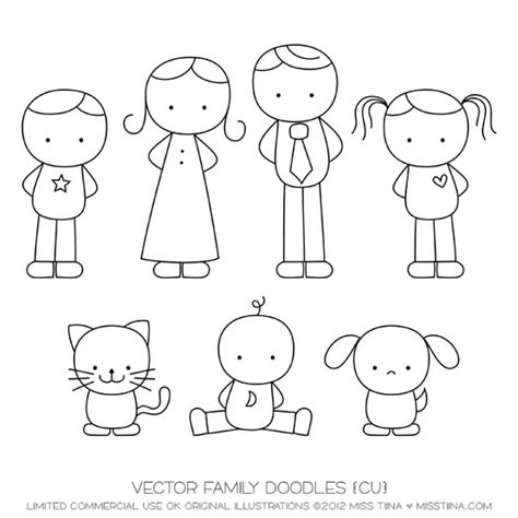 How To Draw My Family Step By Step