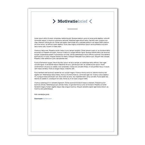 Voorbeeld Een Cv En Motivatiebrief Op 1 A4 Voor Een template motivatiebrief cv maken 2018