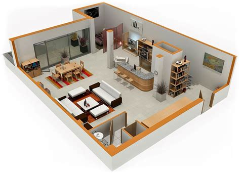 Modern Studio Plans | studio apartment floor plans