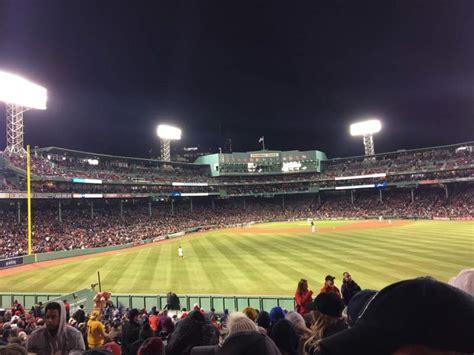 fenway park section bleacher  row  home  boston