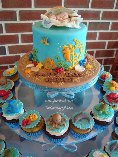 Sea Baby Shower by I Made This Cake And Cupcake Tower For A The Sea