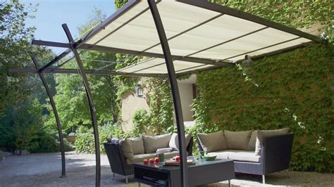 Tonnelle Avec Toile Retractable 2462 by Comment Installer Une Tonnelle Adoss 233 E