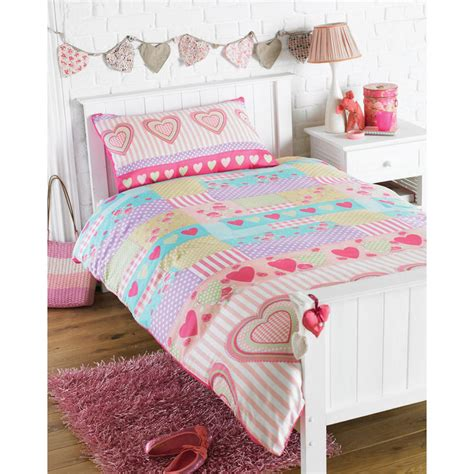 bed covers for girls girls love hearts single bedding duvet cover pillowcase