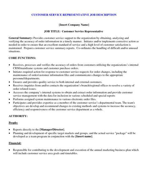 customer service job description for resume professional photo