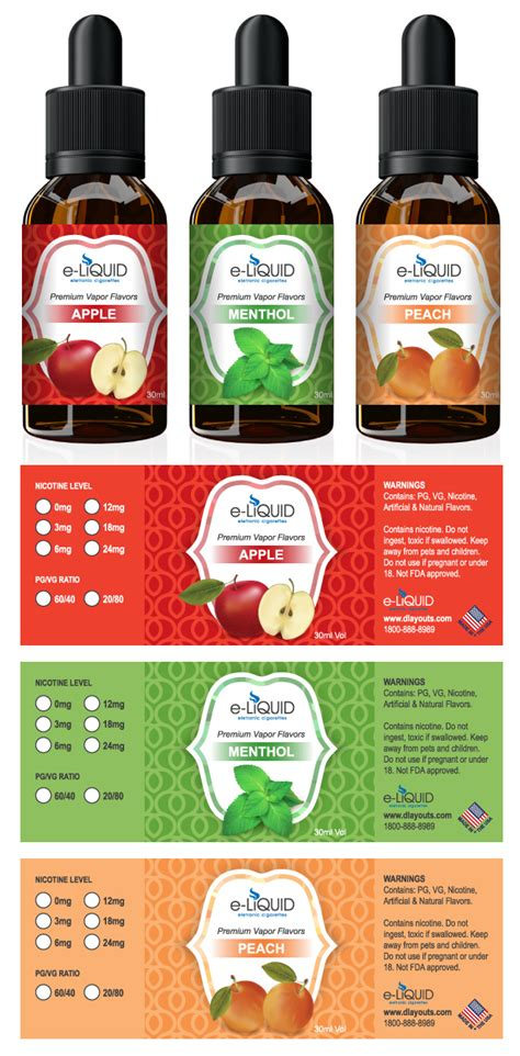 E Liquid Label Template E Juice Label Template