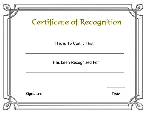 free certificate of appreciation template downloads certificate of recognition template 1 for free