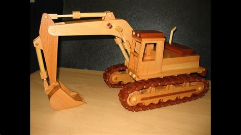 wooden model   excavator youtube