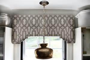 Hunted interior diy stenciled cornice board