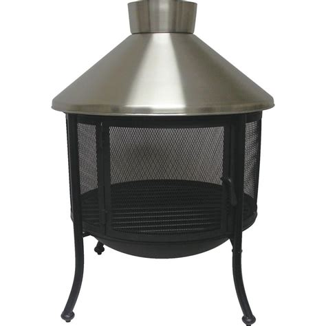 Steel Firepits Outdoor Patio Pit Asia Direct 33 Inch Square Stainless Steel Pit Find It At Shopwiki