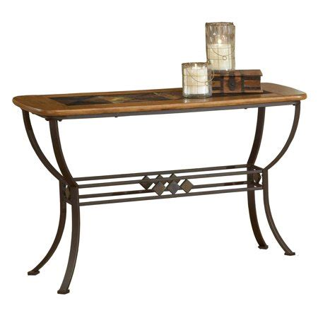 Slate Sofa Table by Hillsdale Lakeview Wood And Slate Top Sofa Table Walmart