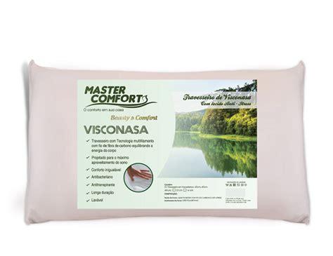 master comfort travesseiro antibacteriano anti stress visco nasa
