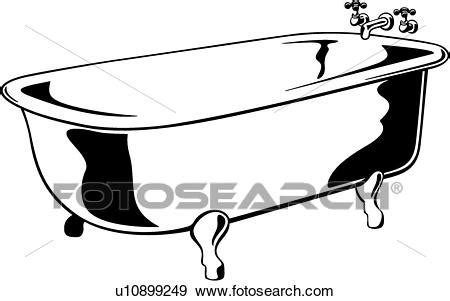 bathtub drawings clip art of bathroom bathtub claw foot fixture tub bath room u10899249