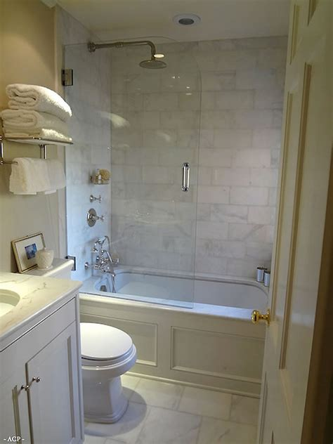 great ideas for small bathrooms a idea for bathrooms small for a separate shower and tub pretty moulding around