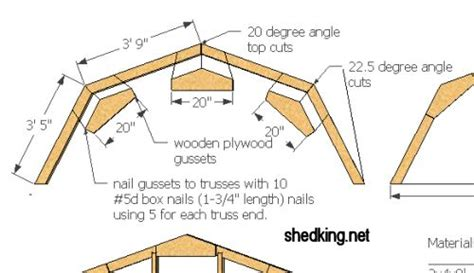 How To Make Shed Roof Trusses by Gambrel Roof Truss Design Pirate4x4 4x4 And