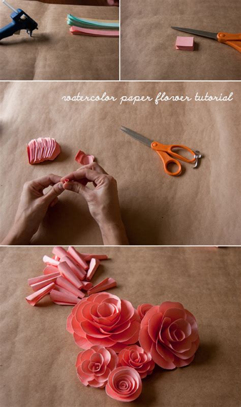 Paper Tutorial - of light watercolor paper flowers
