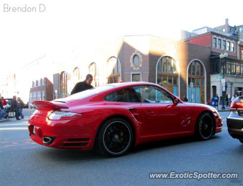 porsche 911 turbo spotted in boston massachusetts on 10