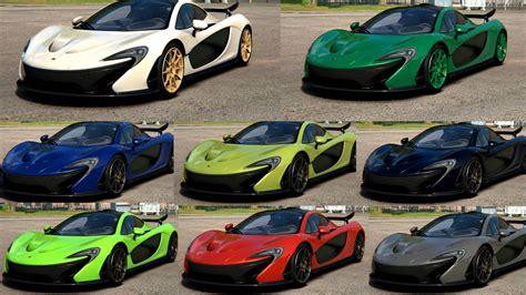 mclaren p1 colors skins mclaren p1 color pack racedepartment
