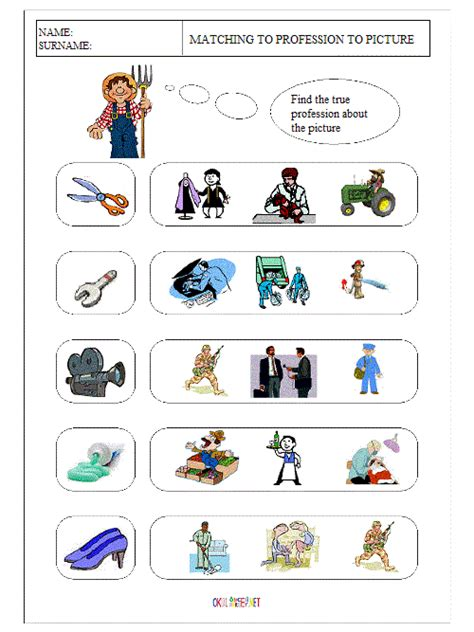 free printable english worksheets occupations career worksheets for kids wiildcreative