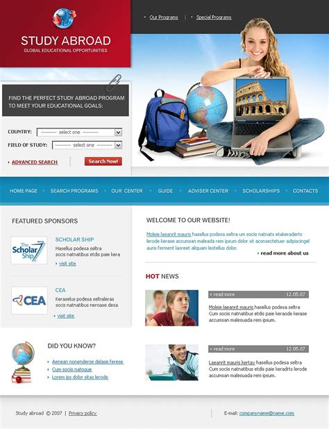 educational templates education website template 17914