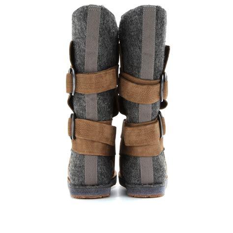 felt boots sorel chipahko felt waterproof boots in brown lyst