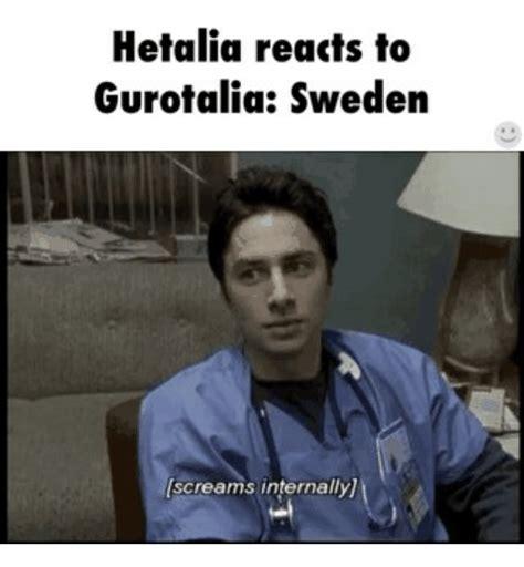 Sweden Meme - hetalia reacts to gurotalia sweden screams internally