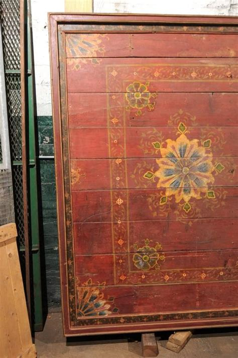 grand sized  century painted wood south indian