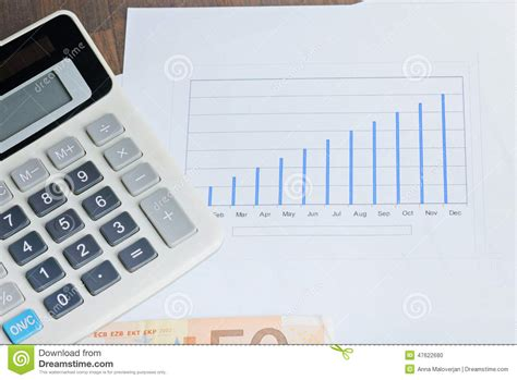 table calculator calculator graphyc on the table stock photo image 47622680