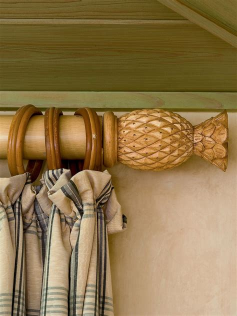 Pineapple Curtain Rod Designs Photo Page Hgtv