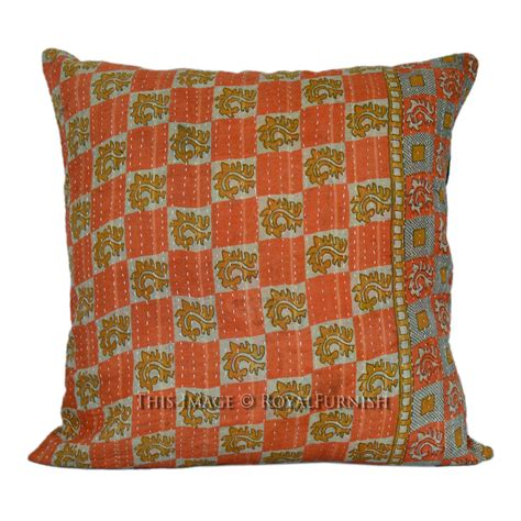 Stitched Pillows by 16 Quot Multicolor Stitched Vintage Kantha Throw