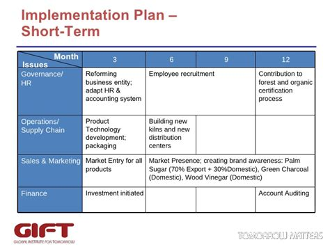 6 month business plan template business for ecobiz