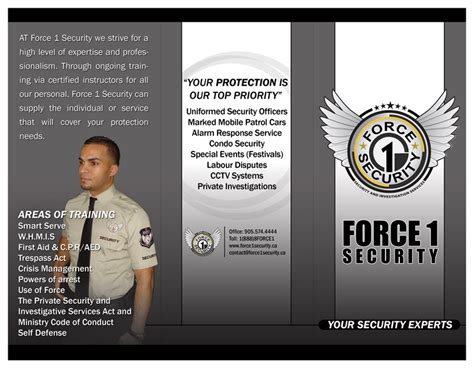 Security Services Brochure Renanlopes Me Security Company Flyer Template