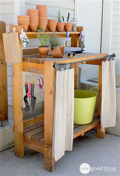 inexpensive potting bench 83 best images about gardening sinks potting tables on