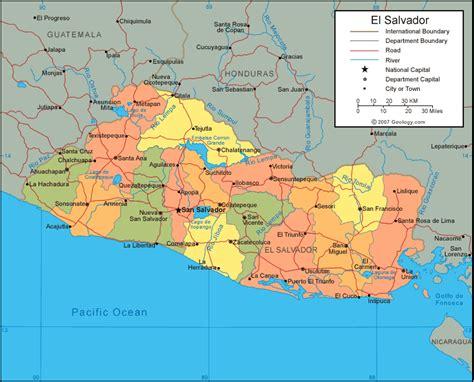 map of el salvador el salvador travel info tourist destinations