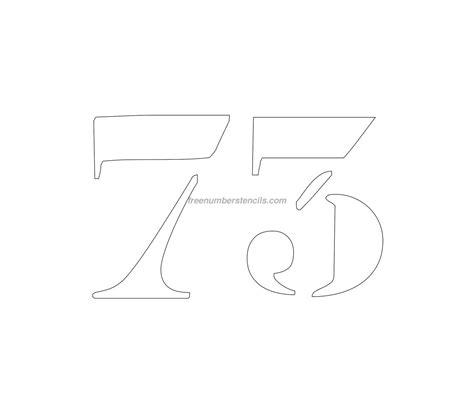 printable curb number stencils free curb painting 73 number stencil freenumberstencils com