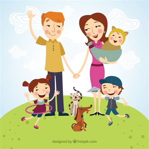 clipart famiglia happy family illustration vector free