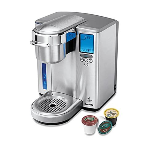 bed bath and beyond keurig breville 174 gourmet single cup brewer with iced beverage