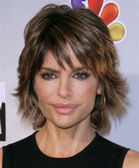 is lisa rinnas hair thick lisa rinna haircut sexy layered razor cut for thick hair