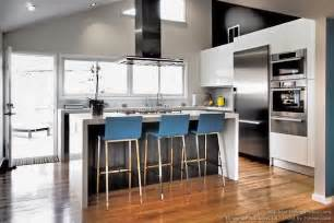 wonderful Dark Cherry Kitchen Cabinets #6: kitchen-cabinets-modern-two-tone-298a-dkl009-black-white-vaulted-ceiling-island-wood-floor.jpg