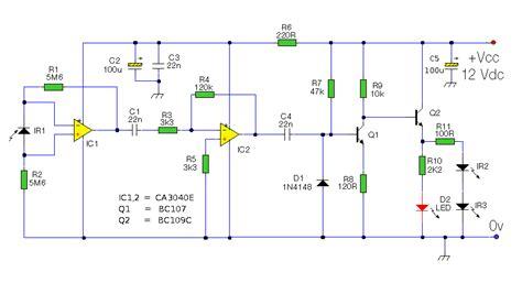 ir diode proteus circuits forum ir afstandsbedieningextender werkt niet naar behoren