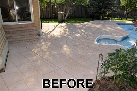 How To Clean Colored Concrete Patio by Home Painters Toronto 187 Driveway And Patio Colored