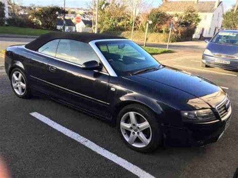 Audi Sport Convertible by Audi A4 Sport 2 4 Cabriolet Convertible Black 2003 Car