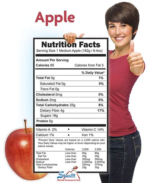 apple nutrition facts apple nutrition facts fruits and berries pinterest
