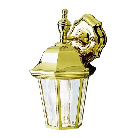 kichler outdoor lighting warranty kichler 9409pb polished brass lifetime finish grove mill 1