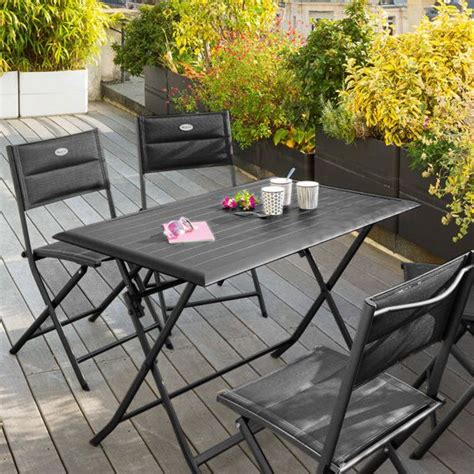 tavolo da giardino pieghevole tavolo da giardino pieghevole alluminio azua 110 x 71 cm
