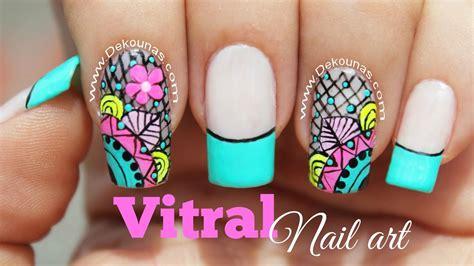 imagenes de uñas acrilicas gratis decoracion de u 241 as vitral youtube
