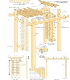 Pergola In Plan by Woodwork Pdf Pergola Pdf Plans