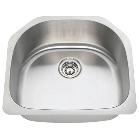 Bowl Undermount Stainless Steel Kitchen Sink by Polaris Sinks Undermount Stainless Steel 24 In Single